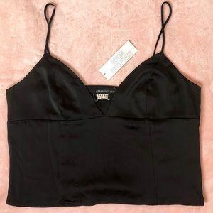 Urban Outfitters Satin Plunging Cami